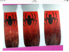 Gothic NAIL ART DECALS POLISH STICKER Cosplay Witch Costume Accessory RED SPIDER