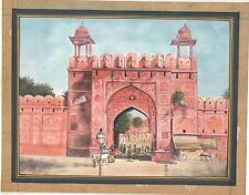 Hand Painted Jaipur Gate Watercolor Paper Miniature Art Paper Painting Gadh Art