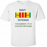 USS HORNET CV-12 * SOUTH VIETNAM * VIETNAM VETERAN RIBBON 1959-1975 SHIRT