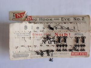 """Delong Nub brass wire hook & eye card heart eyes """"Bless That Nub!"""" 1901 - 1912"""