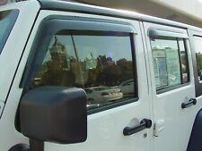Jeep Wrangler JK Unlimited 2007 - 2018 Tape-On Wind Deflector Vent Visors 4pc