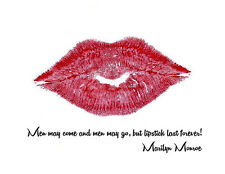 Marilyn Monroe Quote Men may Come 8x10 Print