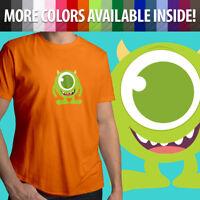 Disney Pixar Monsters Inc University Mike Wazowski Unisex Mens Tee Crew T-Shirt