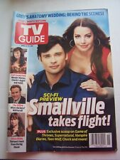Smallville Tv Show Guide Apr 11-17, 2011 Series Finale Tom Welling & Lois Cover