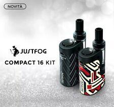 Justfog q16 pro Compact Kit con atomizzatore sigaretta elettronica completa nero