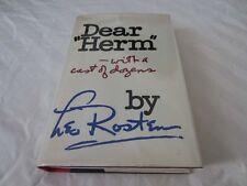 "SIGNED Leo Rosten DEAR ""HERM"" WITH A CAST OF DOZENS HCDJ 1974 1ST EDITION  RARE!"