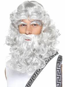 Zeus Wig Grey Beard and Eyebrows Hercules Moses Gandolf by Smiffy's