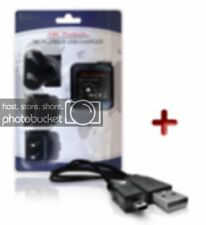 COMPATIBLE  PANASONIC DMC-XS3 LUMIX DIGITAL CAMERA USB CABLE + BATTERY CHARGER