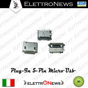 Connettore ricarica 5 pin Plug-in micro usb Htc Nokia NGM Asus A006