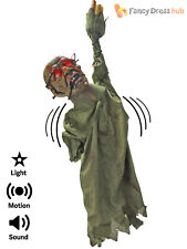 70cm Animated Hanging Zombie Prop Halloween Party Decoration + Sound Movement