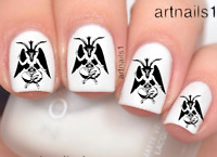 Baphomet Witch Nail Art Occult Goth Water Decals Stickers Manicure Salon Polish