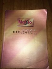 Maisto 2002 Diecast Car & Motorbike Full Range Model 96 Page Catalogue No Resrv