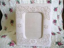 Shabby Chic Rose Embroidered Cotton Photo Frame 6'x4'
