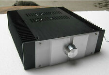 Empty Aluminum Enclosure Power Amplifier Chassis DIY Case Cabinet with Radiator