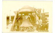 Seattle Washington WA - LIBERTY BELL ON DISPLAY - RPPC Postcard