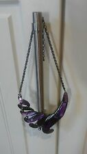 brand new beautiful necklace with adjustable chain & colourful purple display