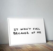 It Won't Fail Because Of Me NASA Poster Tom Sachs 18x24 First Man