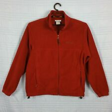 Columbia Mens Large Burgundy Henley Long Sleeve Pullover Zip pocket Jacket