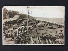 Vintage RPPC: Dorset: #T67: Bournemouth East Cliff & Sands: Posted 1926