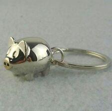 FD3090 Lovely Pig Piglet Keychain Keyring Keyfob Ring Charm X'mas Holiday Gift