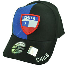 Chile Country Flag Black Royal Hat Cap Gorra Curved Bill Adjustable Chileans