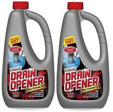 2x Liquid Drain Opener Professional Strength Fast Drains Opener 25 Oz Each !