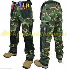 2 x Mens Work Trouser Tough Multi Pocket Trade Pants Triple Stitched Workwear