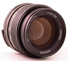 CHINON (TOMIOKA) 55MM F/1.4 M42 lens fit CANON NIKON PENTAX SONY FUJI PANASONIC