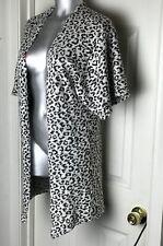 Divided By H&M -BLACK/WHITE Cheetah Animal Print Sexy Long Open Cardigan -SZ XS
