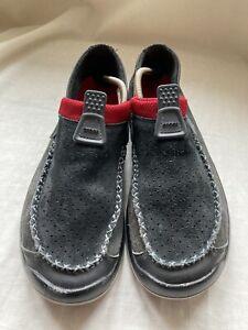 Crocs Black Suede - Size UK 7 - Good Condition