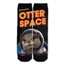Function - Greetings From Otter Space Fashion Sock Otter Socks Outer Space Space