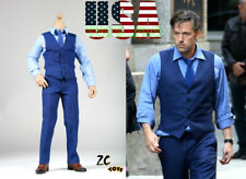 "1/6 Ben Affleck Blue Suit Set For Bruce Wayne 12"" Hot Toys Phicen Figure ❶USA❶"