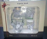 Crystal Head Skull Vodka Gift Set 750ML Bottle And 2 Shot Glasses EMPTY