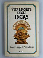 Libro Vita e morte degli Incas Saggio di Pietro Citati 1981 Rizzoli Libri Book18