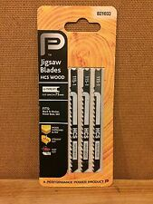 Performance Power Jigsaw Blades Saw HCS Wood Black Decker Skil B21033 Swiss