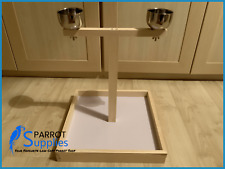 Parrot-Supplies Simple Wooden Parrot Bird Table Top Play Stand Feeder - 00973