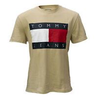 Tommy Hilfiger, Tommy Jeans Herren T-Shirt, beige, Kurzarm, Rundhals, Größe L