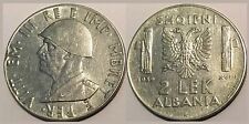 ALBANIA 1939 COIN - 2 LEK MAGNETIC - ITALY OCCUPATION - 109
