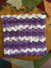 Crochet DishCloths.face Cloth.wash Cloth.size 8.5x8.5 Inches.multicoloured.shell