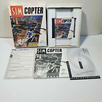 1st Ed. SIMCOPTER SIM'S COPTER Vintage Big Box Windows 98 XP City Complete BN9