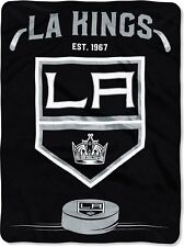 Nhl Hockey Licensed Los Angeles Kings Stitching Royal Plush Twin Throw Blanket