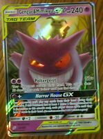 Gengar & Mimikyu GX (ULTRA RARE) SM Tag Team Up 53/181 Pokemon Sun And Moon - LP