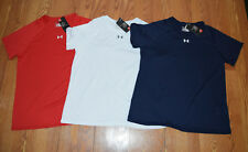 NWT Womens UNDER ARMOUR Crew Neck SS Loose Shirt Fitness Sizes S M L XL