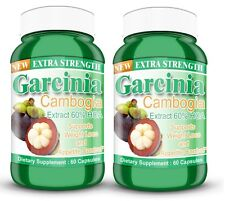 Garcinia Cambogia Extract 2 BOTTLES 1000mg XTRA STRENGTH 60% HCA Weight Loss