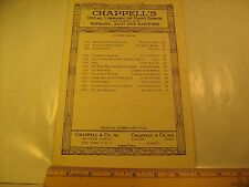 (Choice) Vintage Sheet Music CHAPPELL'S VOCAL LIBRARY OF PART SONGS 1926 [Z23b]