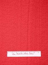 "Northcott Cotton Fabric - Eastern Sense 2901 Cherry Red Cloud Tonal Plume 23"""