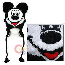 Disney Mickey Mouse Laplander Hat  Kintted Beanie with Ear Flap (Teen-Adult)