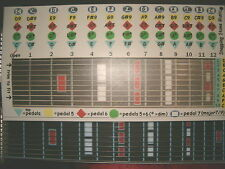 "C6 ""ChordBoard"" for the pedal steel guitar"