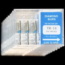 10 Boxes TR-14 MANI DIA-BURS Dental High Speed Handpiece Standard Diamond Burs
