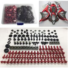 Red Screws Fairing Bolts Kit Shell Hardware For Honda CBR600RR CBR1000RR